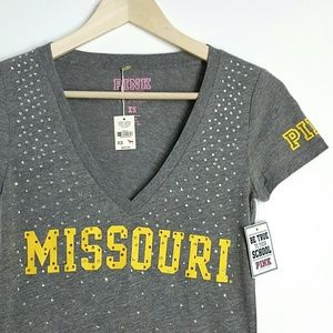 Victoria's Secret PINK Missouri Tshirt XS Gray W4